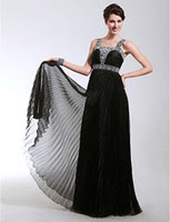 Long black evening dresses size 20