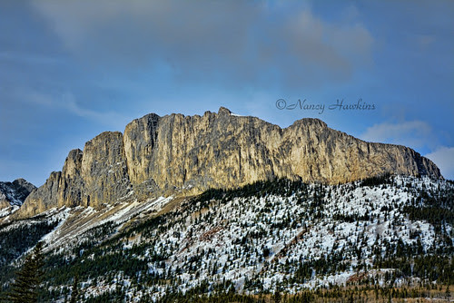 Mount Yamnuska by Nancy Hawkins