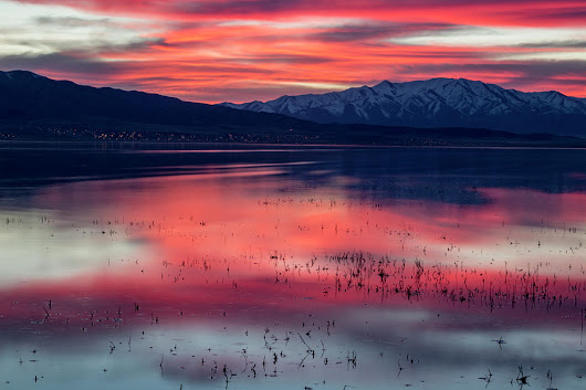 Sunset At Utah Lake