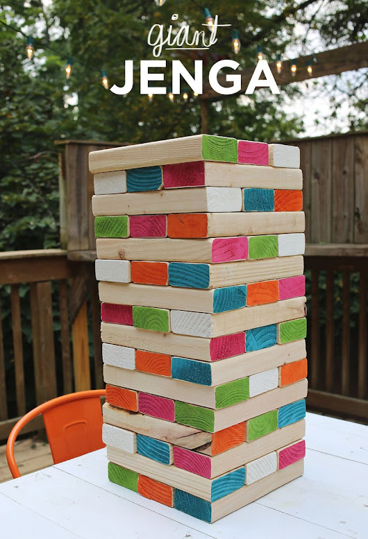 Giant Jenga - A Beautiful Mess