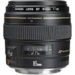 Canon EF 85mm f/1.8 USM Lens for Canon SLR Cameras - Fixed