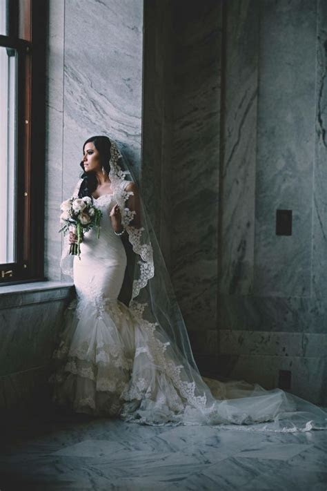 Picture Of a sexy wide lace strap mermaid wedding dress