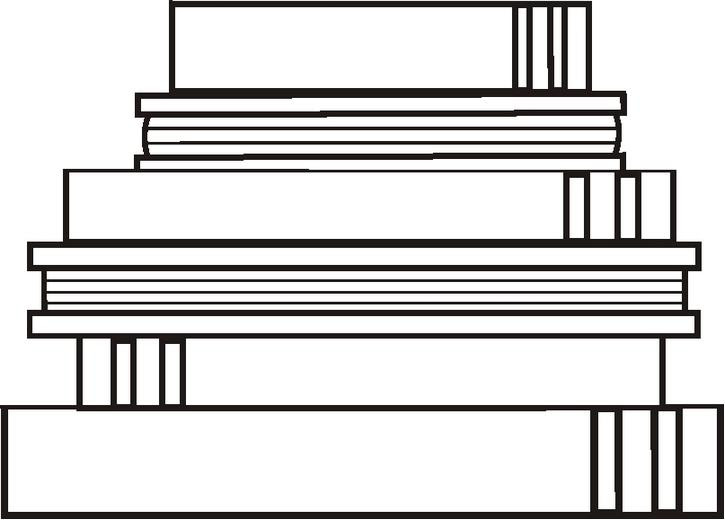stackbooksbw coloring page 1432173803