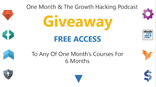 Do You Want It Enough? Win a 6-month Free Access to OneMonth's Courses by Listening to the Growth Hacking Podcast.