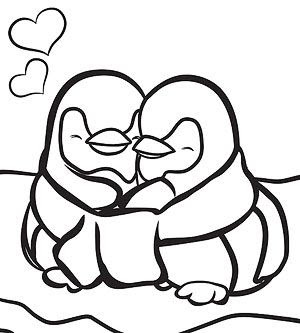 winter penguin coloring pages  clipart panda  free clipart images