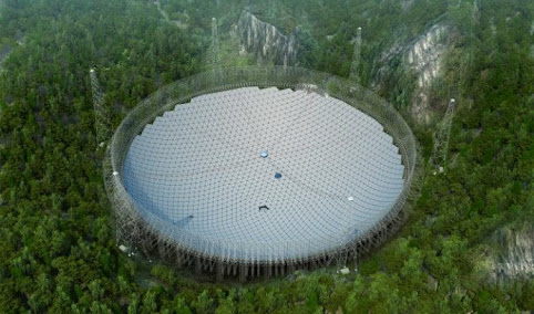 Resultado de imagem para O maior radiotelescópio do mundo está pronto para iniciar a caçada por seres extraterrestres