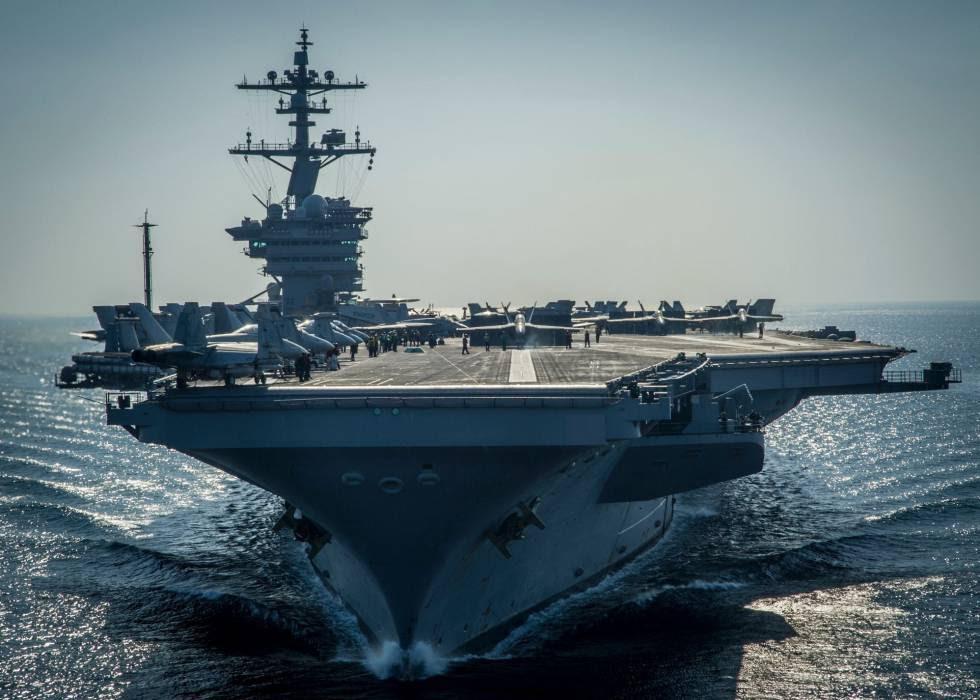 El 'Carl Vinson', el pasado diciembre en el Golfo Pérsico.