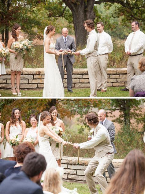 Literally tying the knot. What a fun activity during the