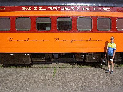 Paul and the Hiawatha Line Cedar Rapids car