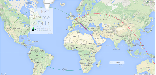 Shortest Distance on the Mercator map- The Web App - The Magiscian