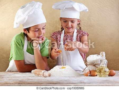 Pictures of Kids preparing a cake - starting with flour and eggs - Kids... csp10089985 -  Search Stock Photos, Images, Photographs, and Photo Clip Art
