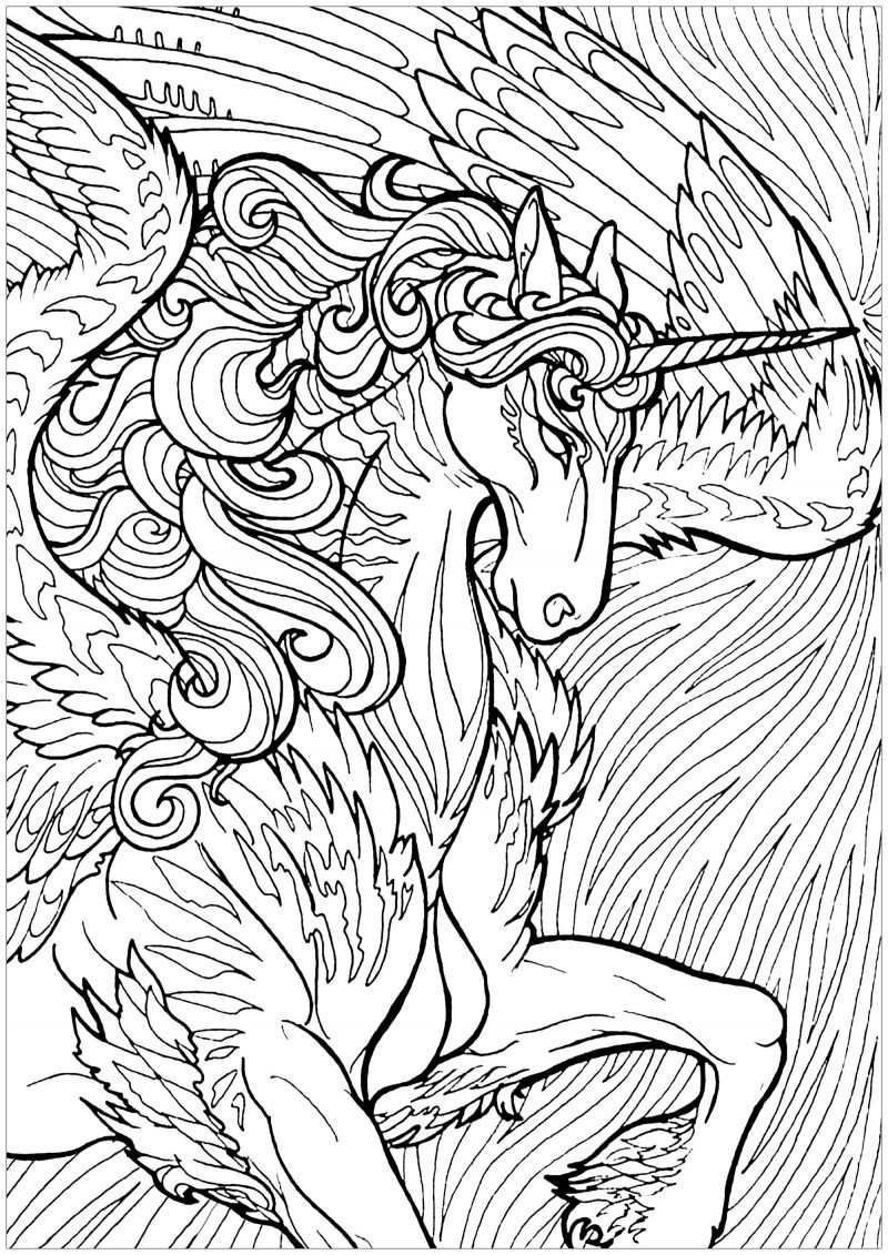 Free Unicorn Coloring Pages For Adults   Coloring and Drawing