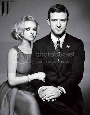 Justin Timberlake and Amanda Seyfried W Magazine