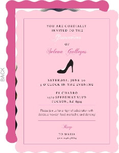 Blank Quinceanera Invitations Calendar June