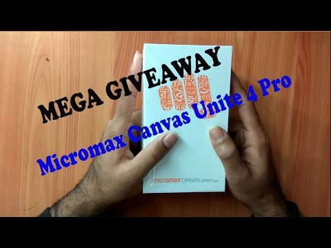 MEGA GIVEAWAY  // ( Micromax canvas unite 4 pro ) // !! GIVEAWAY COMPETITION - Tech Source