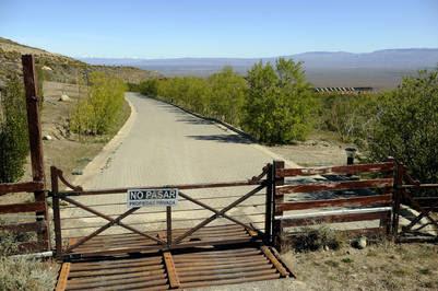 Vista de estancia Cruz Aike propiedad en El Calafate. Foto. Maxi Failla