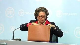 Imatge d'arxiu de Rita Barberá en una roda de premsa a València