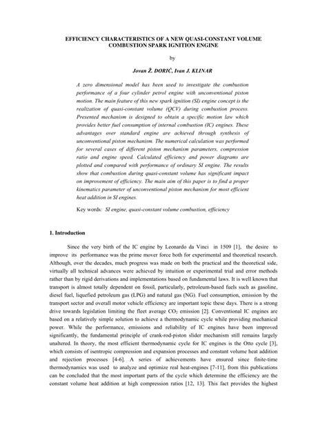 (PDF) Efficiency characteristics of a new quasi-constant