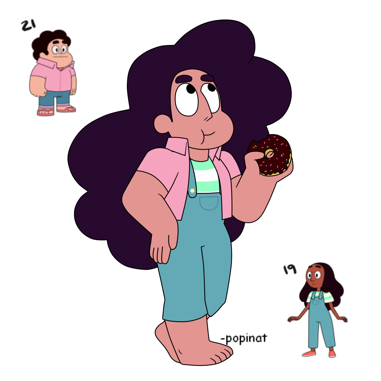 I want a donut now….Stevonnie, you lucky….I'm going to draw them forever omg.