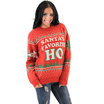 Santa's Favorite HO Ugly Christmas Sweater