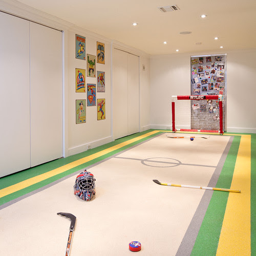 Really Cool Basement Interior Design Photos - Basement Hockey Rink | Live Love in the Home