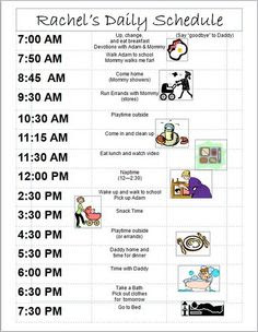 Daily Schedule 4 Month Old Baby | Daily Planner