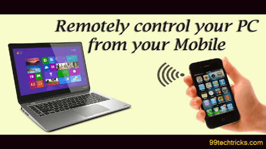 How To Control Your PC From Android Mobile Best (100% Working) Tricks