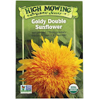 High Mowing Organic Seeds - Organic Goldy Double Sunflower Seeds - 1 Packet