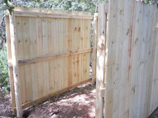 Bees 2012 Third Wall of Fenced Area Raised