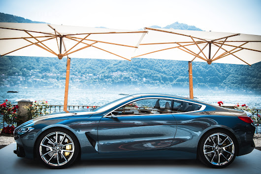 The best photo gallery of the BMW Concept 8 Series at Villa d'Este