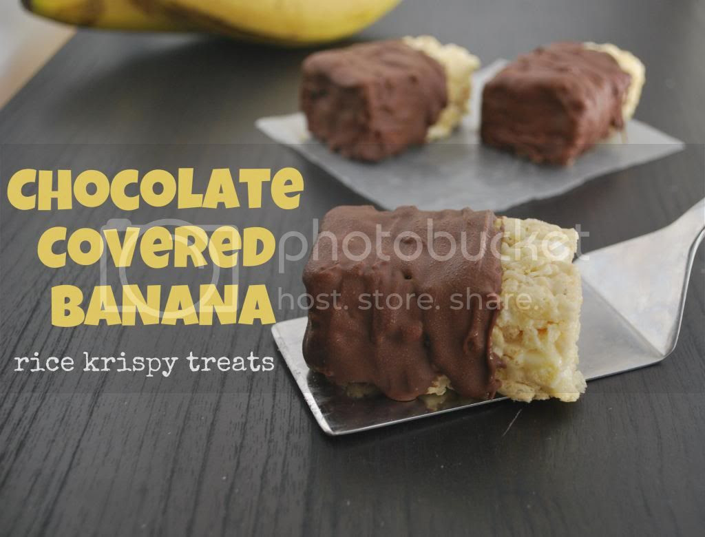 Mallow and Co: Chocolate Covered Banana Rice Krispy Treats