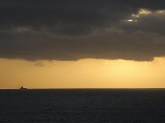 o pôr-do-sol