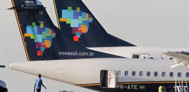 Avião da empresa Azul