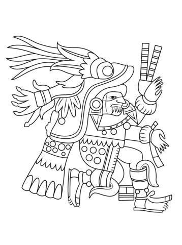 Dibujo De Chantico Diosa Azteca Del Fuego Para Colorear