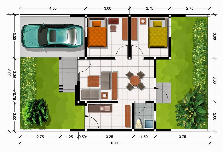 Denah Sketsa Rumah Minimalis  5 Desain Rumah  Minimalis
