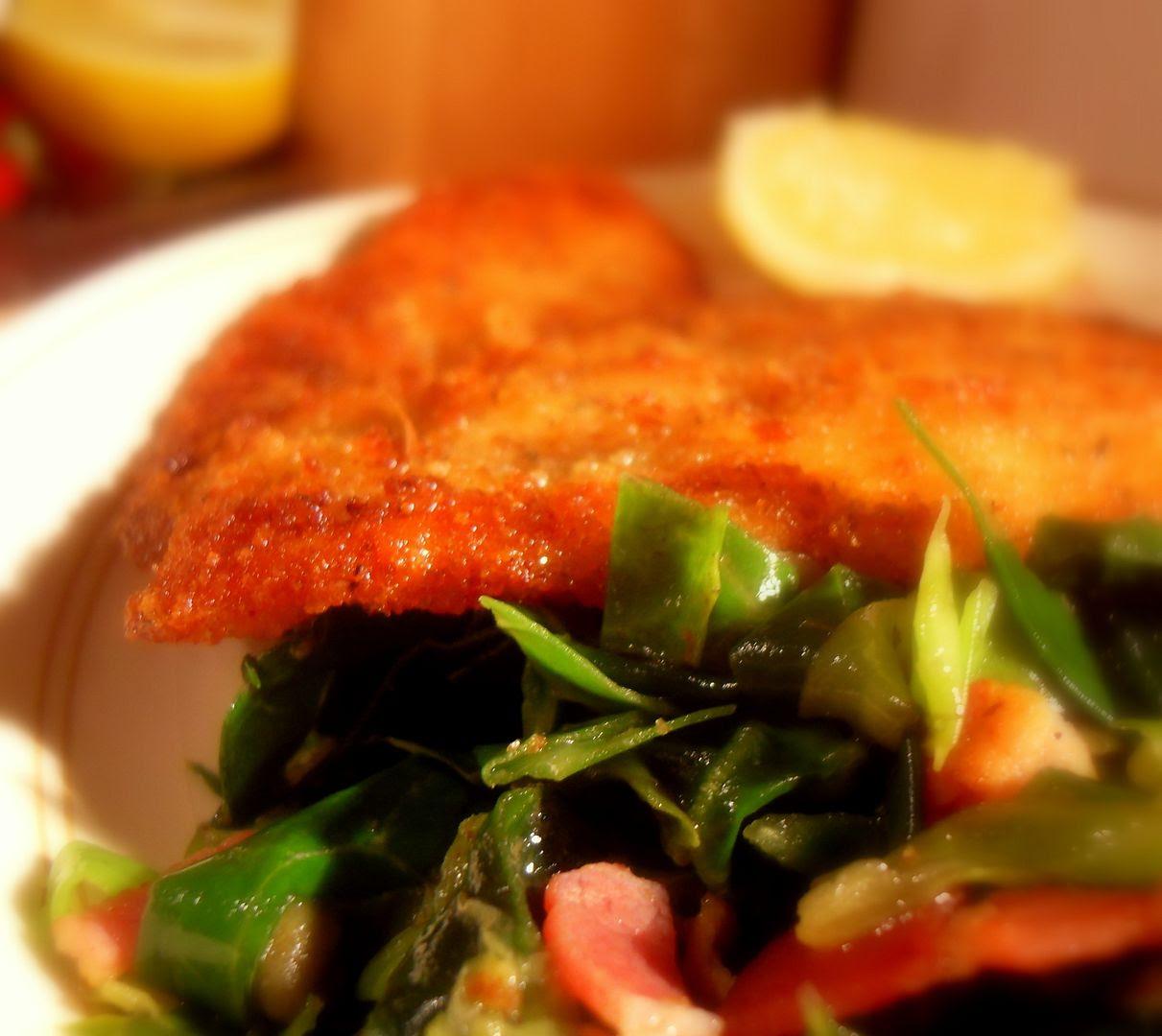 Chicken Scaloppine with Spring Greens