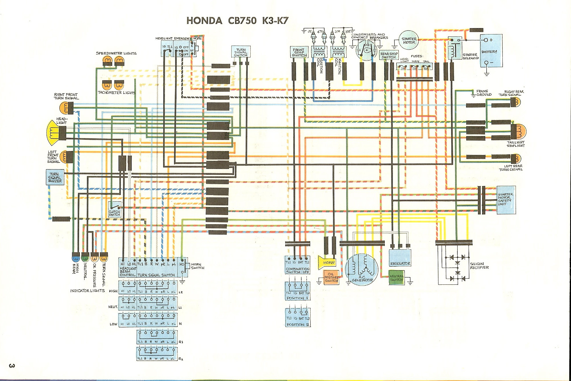 153b1a 1971 Honda 750 Four K 1 Wiring Diagram Wiring Library