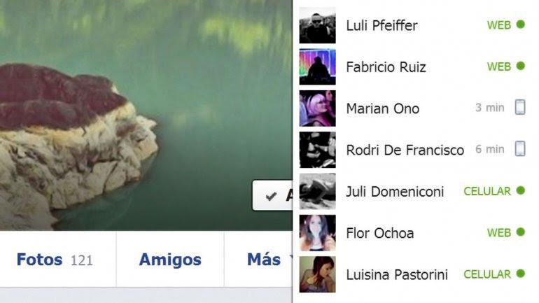Facebook ahora identifica la conexión de amigos en el chat