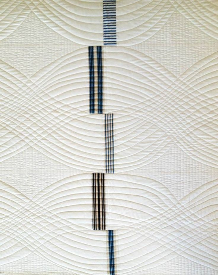 Denyse Schmidt quilt. Very clever quilting lines
