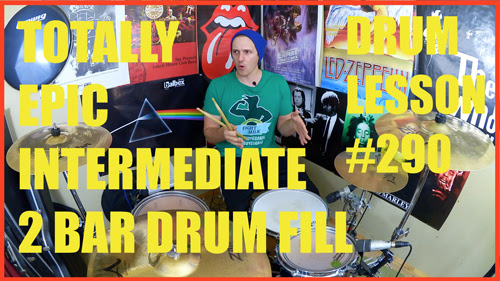 Epic Intermediate Rock, Pop, Metal Drum Fill