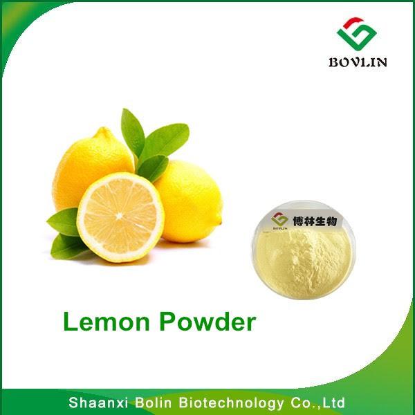 özelleştirilmiş Limon Tozu Yiyecek Sınıfı Limon Sarı Suda çözünür