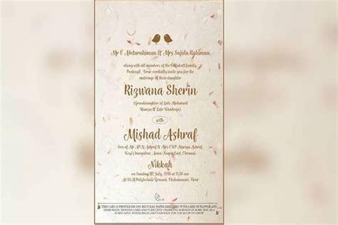 Read this invite, then bury it: Kerala MLA prints wedding