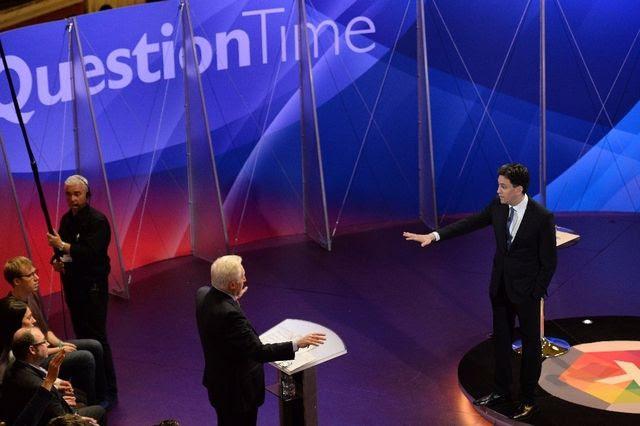 Miliband musste sich anhören, seine Wirtschaftsagenda sei fahrlässig: Ed Miliband stellt sich den Fragen. (30. April 2015)