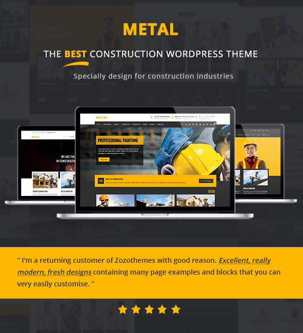 Metal building construction business wordpress themes for Builders unlimited