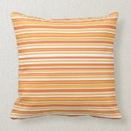 Orange Stripe American MoJo Pillow throwpillow
