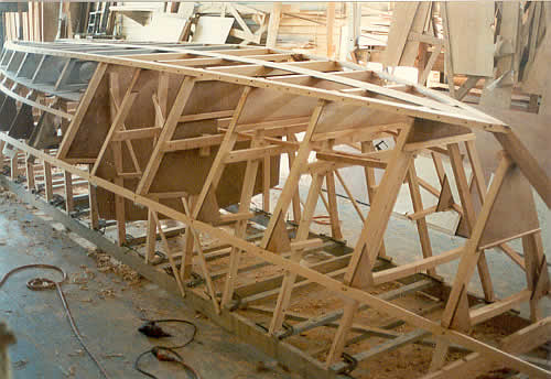 Custom wooden boat building the 27' St. Pierre Dory