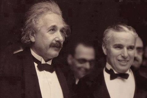 "History In Pictures on Twitter: ""Einstein with Charlie Chaplin """