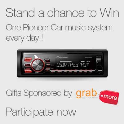 Win a Pioneer Music Car Music System Every Day