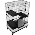 PawHut Metal 4-level Rabbit Cage Indoor Small Animal Hutch