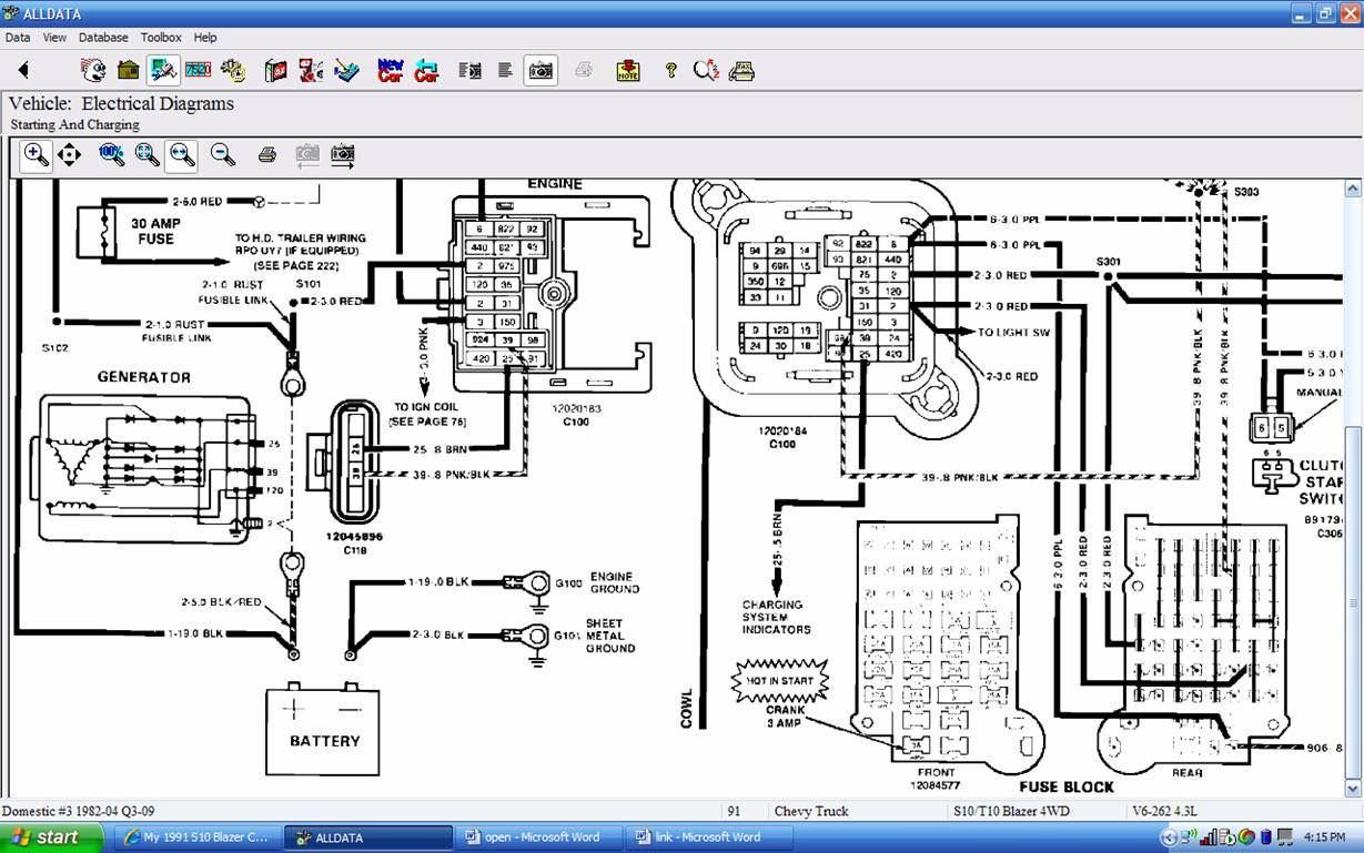 Diagram Wiring Diagram For 1991 Chevy S10 Full Version Hd Quality Chevy S10 Diagramprovisions Potrosuaemfc Mx